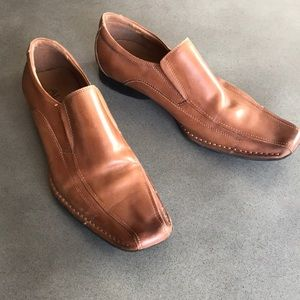 Aldo leather square toe loafers